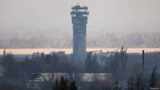 Диспетчерская башня донецкого аэропорта