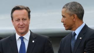 David Cameron da Barack Obama