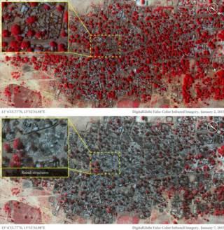 नाइजीरिया के क़स्बों की सैटेलाइट तस्वीर