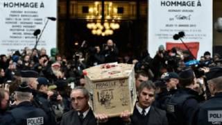 Tang lễ cho các nạn nhân vụ tấn công tòa báo Charlie Hebdo