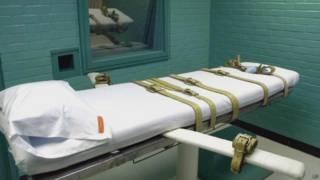 Sala de execução nos EUA (Foto: AP)