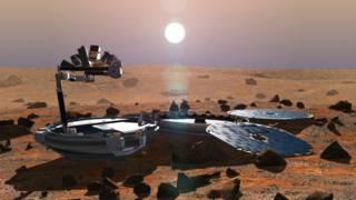 """""""Бигль-2"""" на поверхности Марса"""