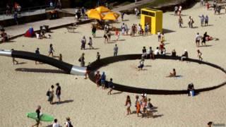 скульптура на пляже в сиднее