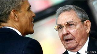 राष्ट्रपति ओबामा र क्यूबाली राष्ट्रपति राउल क्यास्ट्रो