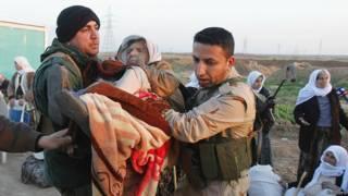 Yazidíes liberados por EI