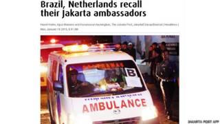 Foto do Jakarta Post mostra ambulância que levou brasileiro para execução
