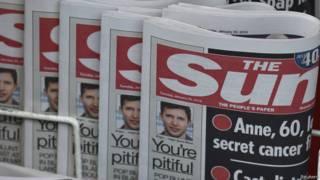 Jornal 'The Sun' (Reuters)