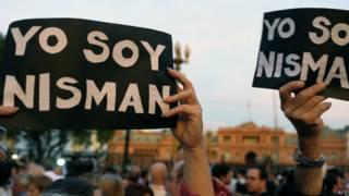 Protesto em Buenos Aires após a morte de promotor (AFP)