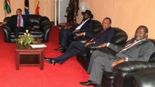 Rais Kikwete, Salva Kiir, Kenyatta na Bwana Riek Machar