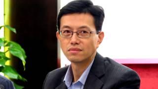 """""""反占中大联盟""""发言人吴秋北(BBC中文网图片8/9/2014)"""