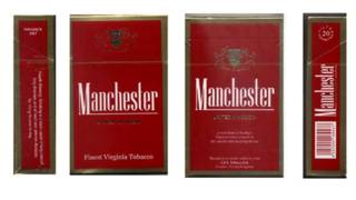 Пачка сигарет Manchester