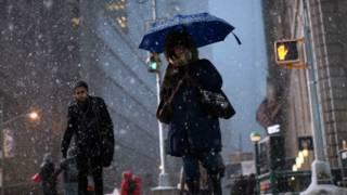 Tuyết rơi mạnh ở New York
