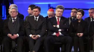 Европейские лидеры в Освенциме