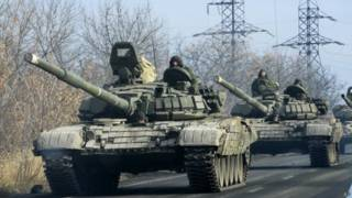 Танки сепаратистов под Донецком