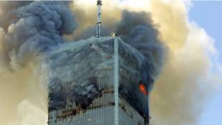 अमरीका ट्विन टावर पर हमला
