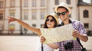 Довольные путешественники