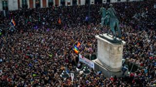 Ato do partido Podemos em Madri em 31 de janeiro de 2015   Foto: Getty
