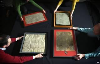 Четыре рукописных документа
