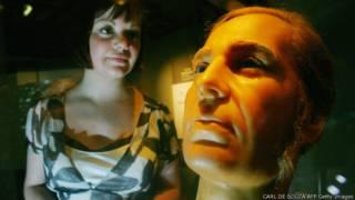Восковая модель Джона Тертелла на выставке в Лондоне. 2008 год.