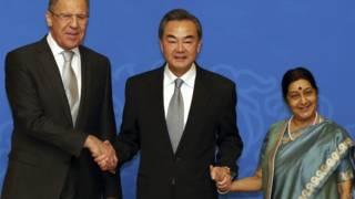 भारत, चीन, रूस विदेश मंत्री, सुषमा स्वराज