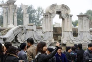 北京圆明园废墟