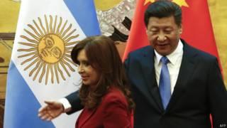 Critina Fernández y Xi Jinping