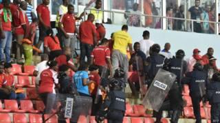 Полиция на стадионе