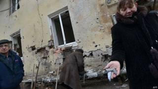 Женщина в Донецке