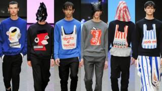 英国新锐设计师夏侬的2015标语套头衫系列