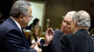 Nikos Kotzias ve Jose Manuel Garcia-Margallo