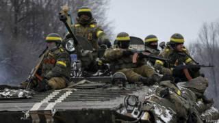 Украинские солдаты в районе Дебальцева