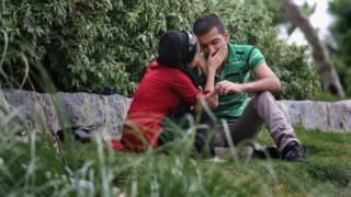 Casal no Irã | Foto: Getty
