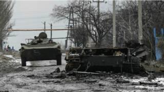 Танк в Донбассе