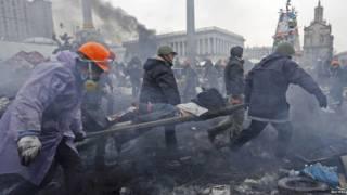 Участники протестов на Майдане