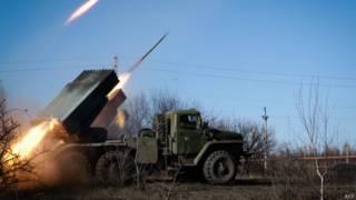 Ракетный обстрел с позиций сепаратистов