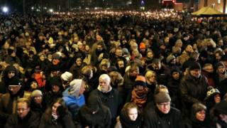 Des milliers de manifestants à Copenhague