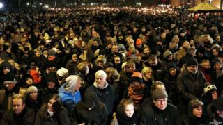 толпа в копенгагене