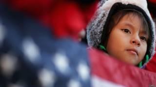 Niña inmigrante en EE.UU.