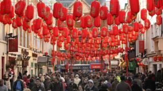 每年倫敦唐人街都舉行春節慶祝活動