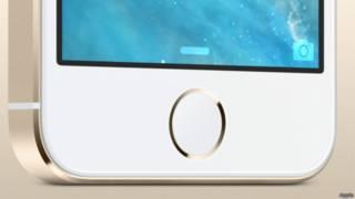 منطقة البصمة في الهواتف آيفون 5s