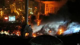 Майдан в ночь на 19 февраля