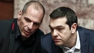El ministro de Finanzas y el primer ministro griego