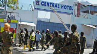 atentado en Hotel Central, de Mogadishu