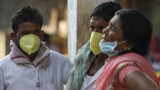 Brote de gripe en India