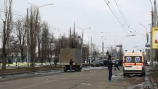 На месте взрыва в Харькове