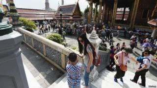 中国游客在泰国