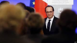Президент Франсуа Олланд на обеде Совета еврейских организаций Франции
