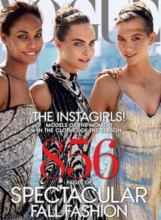 迪瓦伊等當紅「快拍女孩」模特的《Vogue》封面