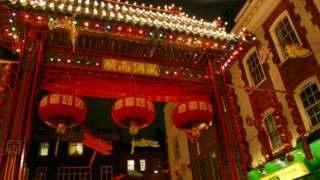 倫敦中國城的燈籠