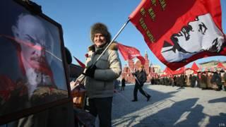 Сторонник КПРФ на Красной площади